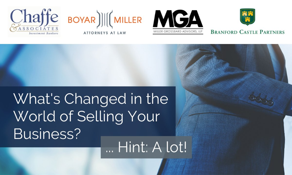 Selling a Business - Joint Webinar Invite Image