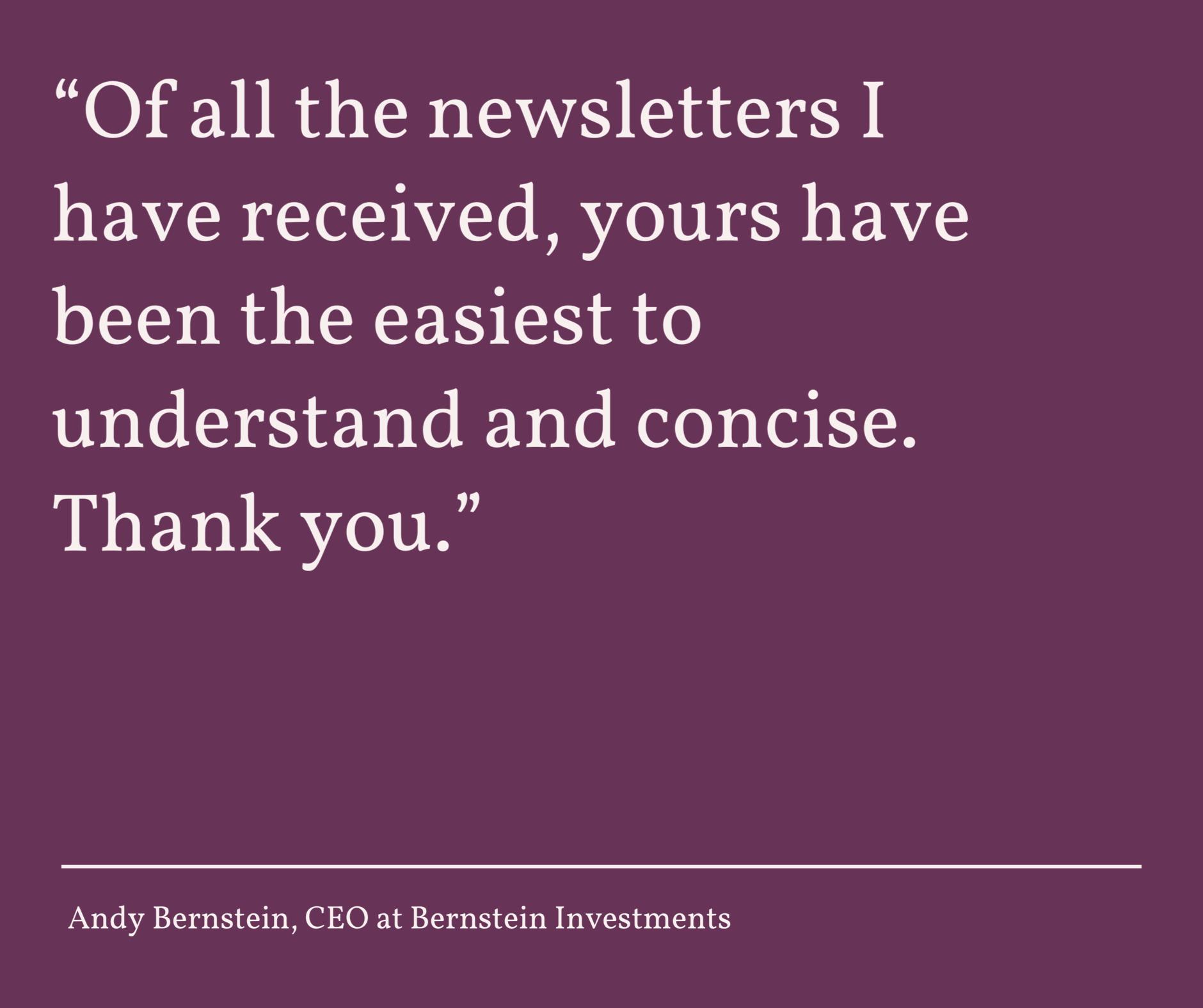 Andy Bernstein - Client Kudos