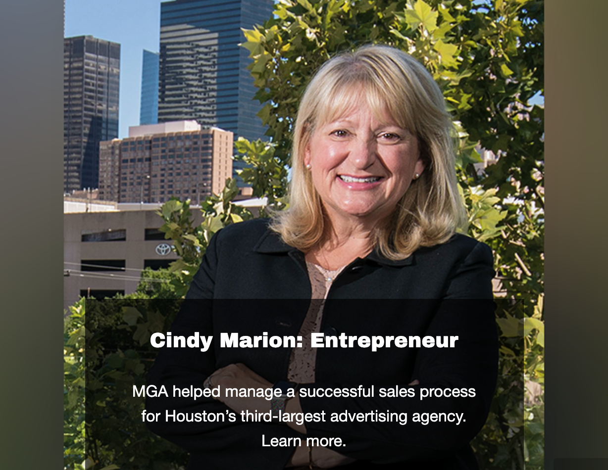 CINDY MARION - Landing Page Image