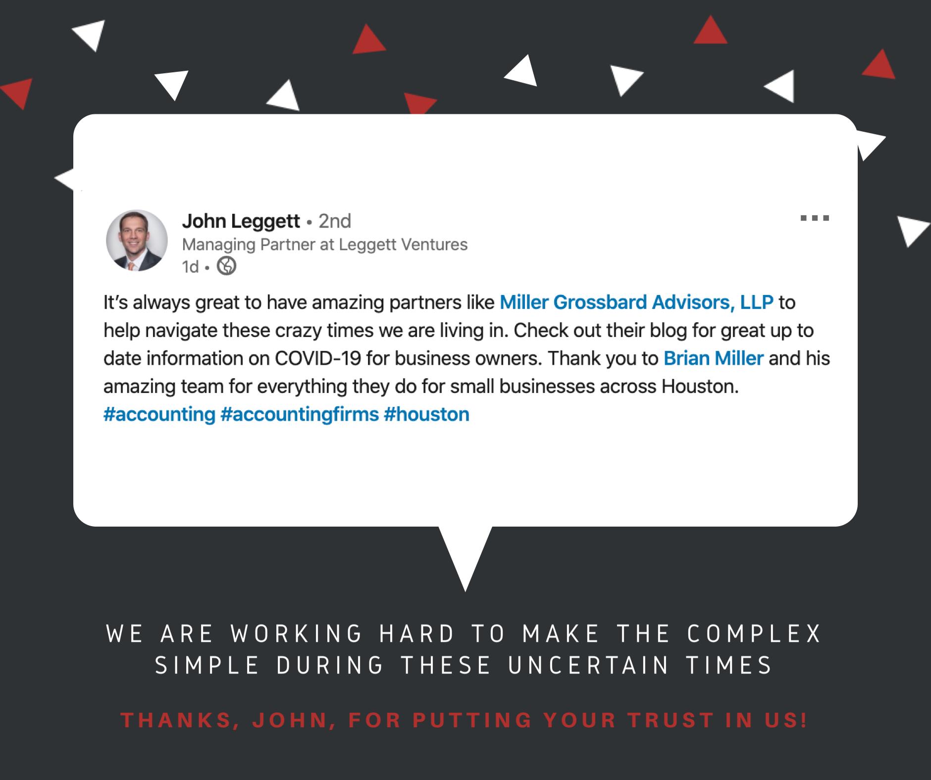 John Leggett - Client Kudos