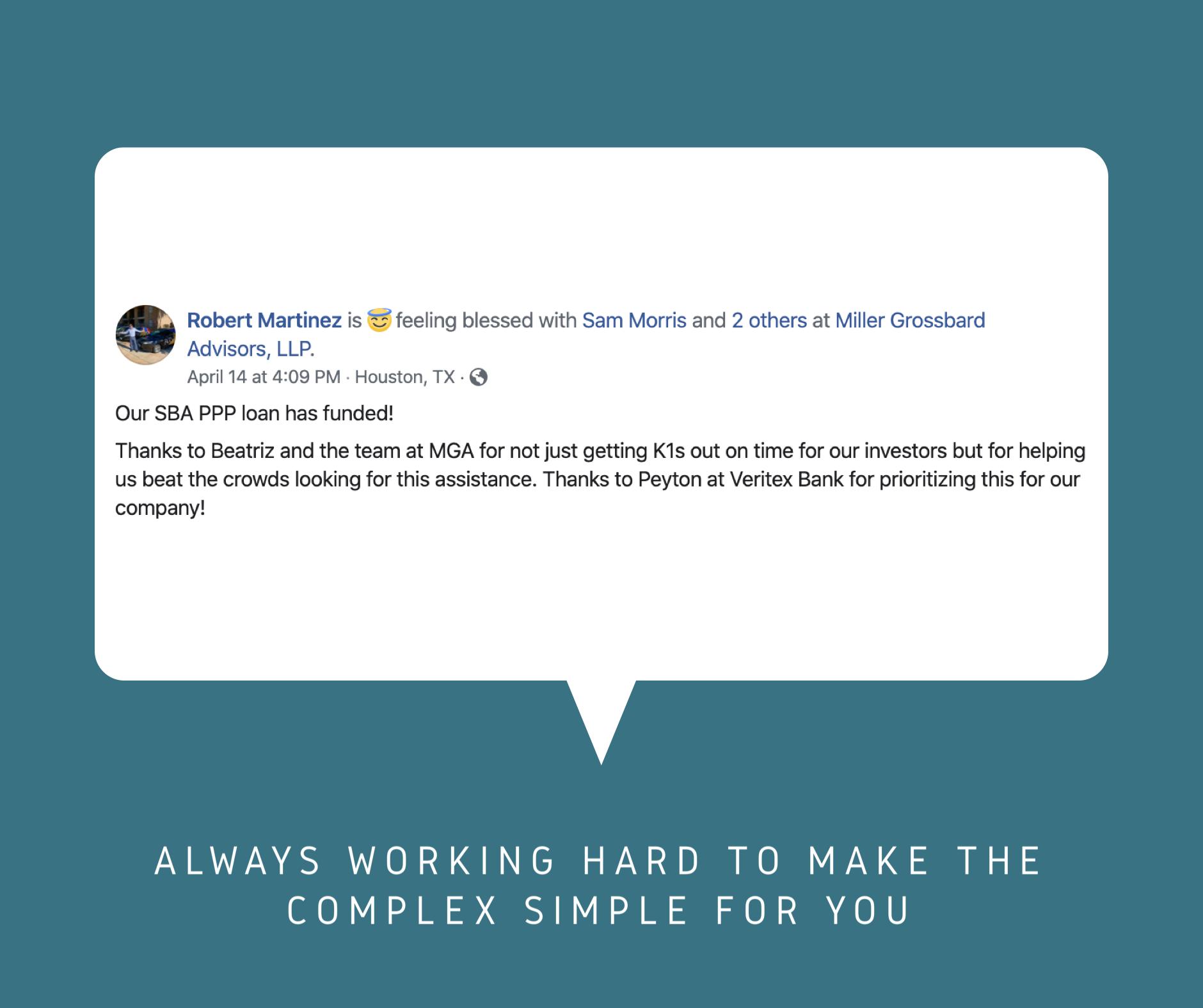 Robert Martinez - Client Kudos