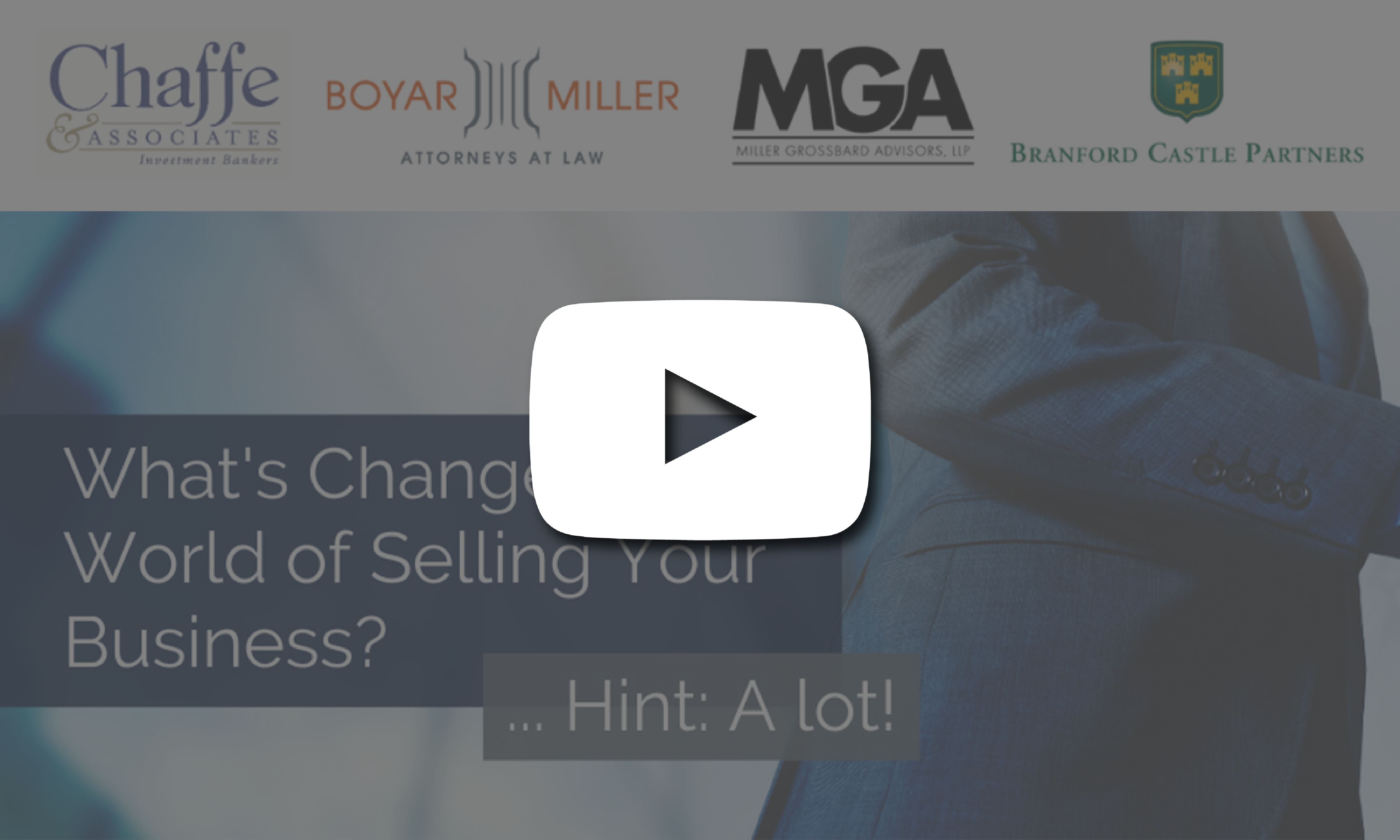 Selling Your Business Webinar